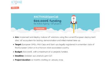 (Español) ¡Participa en los retos ACTIVAGE 1st Open Call! #ACTIVAGEOpenCall