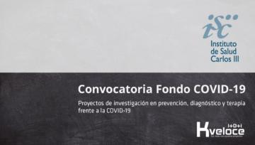 Convocatoria COVID-19 ISCIII - Nos ponemos a tu disposición de manera solidaria y gratuita para presentar tu proyecto